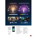 PHILIPS 8718696729052 | E27 10W Philips obični A19 LED izvori svetlosti hue smart rasveta 806lm 2200 <-> 6500K jačina svetlosti se može podešavati, promenjive boje, dvodelni set 160° CRI>80