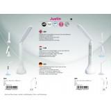 RABALUX 1514 | Justin Rabalux asztali lámpa 26,3cm három fokozatú érintőkapcsoló szabályozható fényerő, állítható színhőmérséklet, elforgatható alkatrészek, USB csatlakozó 1x LED 253lm + 1x LED 4000K fehér