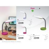 RABALUX 4151 | Dean Rabalux asztali lámpa 35cm vezeték kapcsoló flexibilis 1x E27 lila, fehér, szürke