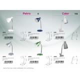 RABALUX 4291 | Color Rabalux csiptetős lámpa vezeték kapcsoló flexibilis 1x E14 fehér, króm