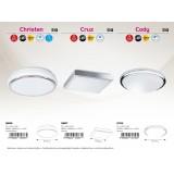 RABALUX 5887 | Cruz Rabalux plafonjere lampa 1x LED 900lm 3500K krom, belo
