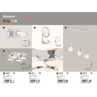RABALUX 5670 | Assana Rabalux függeszték lámpa 1x LED 1400lm 3000K króm, opál