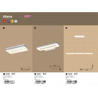 RABALUX 5649 | Alana-RA Rabalux függeszték lámpa 1x LED 2800lm 3000K matt fehér