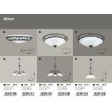 RABALUX 7813 | Athen Rabalux luster lampa 3x E14 crno mat, belo alabaster