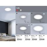 RABALUX 5571 | Lois Rabalux ugradna LED panel okrugli Ø225mm 225x225mm 1x LED 1400lm 4000K belo mat, belo