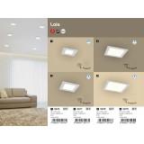 RABALUX 5579 | Lois Rabalux ugradna LED panel četvrtast 220x220mm 1x LED 1400lm 4000K belo mat, belo