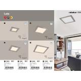 RABALUX 5580 | Lois Rabalux ugradna LED panel četvrtast 90x90mm 1x LED 170lm 3000K krom saten, belo