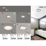 RABALUX 5589 | Lois Rabalux ugradna LED panel okrugli Ø170mm 170x170mm 1x LED 800lm 3000K IP44 krom, belo