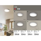 RABALUX 2658 | Lois Rabalux zidna, plafonjere LED panel okrugli 1x LED 2500lm 4000K belo mat, belo