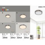 RABALUX 2661 | Lois Rabalux zidna, plafonjere LED panel okrugli 1x LED 1700lm 3000K krom saten, belo