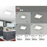 RABALUX 2665 | Lois Rabalux zidna, plafonjere LED panel četvrtast 1x LED 1700lm 4000K belo mat, belo