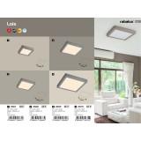 RABALUX 2667 | Lois Rabalux zidna, plafonjere LED panel četvrtast 1x LED 800lm 3000K krom saten, belo