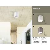 RABALUX 2487 | Maddox Rabalux stropne svjetiljke svjetiljka 1x E27 sivo