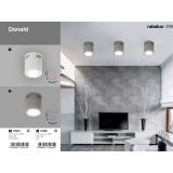 RABALUX 2485 | Donald Rabalux stropne svjetiljke svjetiljka 1x E27 sivo