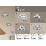 RABALUX 1047 | Lite Rabalux ugradna lampa trodelni set Ø82mm 82x82mm 1x GU10 720lm 3000K IP44/40 krom