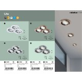 RABALUX 1049 | Lite Rabalux ugradna lampa trodelni set, pomerljivo Ø86mm 86x86mm 1x GU10 720lm 3000K IP40 belo