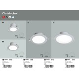 RABALUX 5898 | Christopher Rabalux ugradna lampa Ø95mm 95x95mm 1x LED 650lm 4000K IP44/20 belo