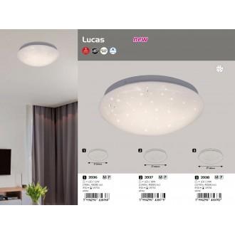 RABALUX 3936 | Lucas Rabalux fali, mennyezeti lámpa kerek 1x LED 700lm 4000K fehér, csillogó