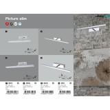 RABALUX 3907 | Picture-slim Rabalux zidna lampa elementi koji se mogu okretati 1x LED 316lm 4000K krom, belo