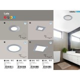 RABALUX 5587 | Lois Rabalux ugradna LED panel četvrtast 170x170mm 1x LED 800lm 4000K IP44 krom, belo
