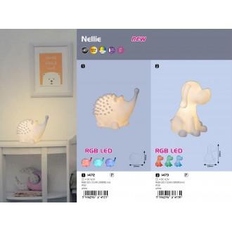 RABALUX 1472 | Nellie-RA Rabalux LED éjjelifény lámpa kapcsoló színváltós, elemes/akkus 1x LED 3000K fehér