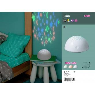 RABALUX 1470   Lina-RA Rabalux dekor lámpa kapcsoló elemes/akkus 1x LED RGBK fehér