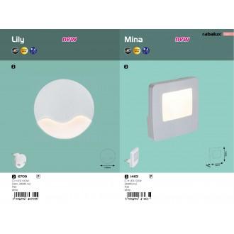 RABALUX 1463 | Mina-RA Rabalux éjjelifény lámpa fényérzékelő szenzor - alkonykapcsoló konnektorlámpa 1x LED 3000K fehér