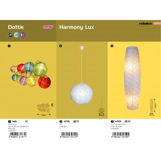 RABALUX 1461 | Dottie Rabalux dekor lámpa vezeték kapcsoló elemes/akkus 1x LED 3lm 6000K többszínű