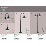 RABALUX 8245 | Konstanz Rabalux zidna svjetiljka 1x E27 IP44 UV crno, prozirno