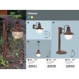RABALUX 8164 | Odessa Rabalux visiace svietidlo 1x E27 IP44 UV antické hnedé, priesvitné
