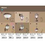 RABALUX 8478 | Madrid Rabalux álló lámpa 41cm 1x E27 IP43 antikolt arany, fehér alabástrom