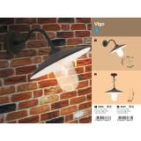 RABALUX 8687 | Vigo Rabalux visiace svietidlo 1x E27 IP44 matná čierna, biela