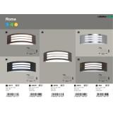 RABALUX 8776 | Roma Rabalux stenové svietidlo 1x E27 IP44 UV antracit, biela