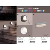 RABALUX 7980 | Amarillo Rabalux stenové svietidlo pohybový senzor batérie/akumulátorové 1x LED 50lm 3000K IP44 biela