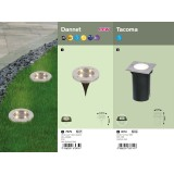 RABALUX 7975 | Dannet Rabalux ubodne lampa baterija na sunce / solarna 1x LED 4lm 3000K IP44 krom saten