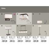 RABALUX 2896 | Kubu Rabalux stona lampa 44,5cm sa prekidačem na kablu 1x E14 bež, braon, venga