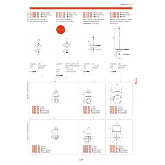 REDO 01-1146 AB | Savoy-RD Redo falikar lámpa 1x E27 antikolt réz