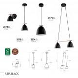 TK LIGHTING 2572 | Aida-TK Tk Lighting zidna svjetiljka 1x E27 crno, bijelo