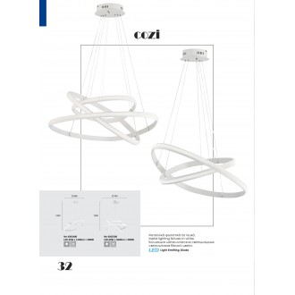 VIOKEF 4202400 | Cozi Viokef visiace svietidlo 1x LED 2100lm 3000K biela