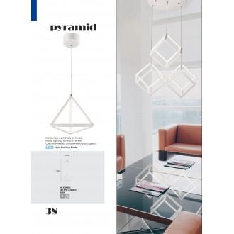 VIOKEF 4206600 | Pyramid-VI Viokef visiace svietidlo 1x LED 2960lm 3000K biela