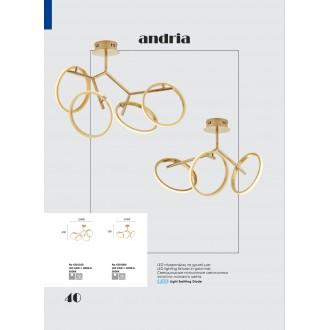 VIOKEF 4201100 | Andria-VI Viokef stropné svietidlo 1x LED 1800lm 3000K zlatý
