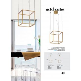 VIOKEF 4207000 | Gold-Cube Viokef visilice svjetiljka 1x LED 2080lm 3000K zlatno